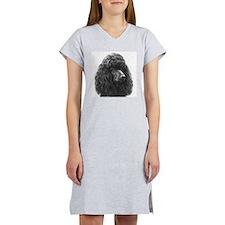 Black or Chocolate Poodle Women's Nightshirt