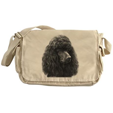 Black or Chocolate Poodle Messenger Bag
