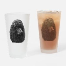 Black or Chocolate Poodle Drinking Glass