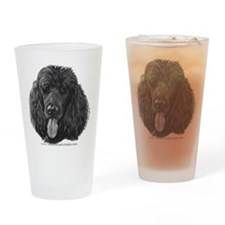 Shadow, Standard Poodle Drinking Glass