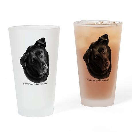 Corvis, Black Lab Mix Drinking Glass
