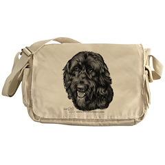 Happy, Mixed Breed, Messenger Bag