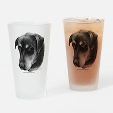 Rottweiler Lab Mix Drinking Glass