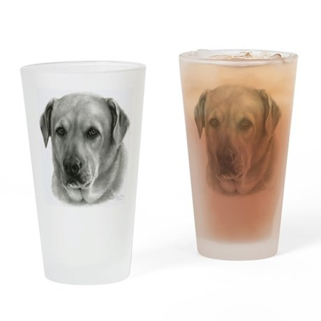Lindsay, Lab Mix Drinking Glass