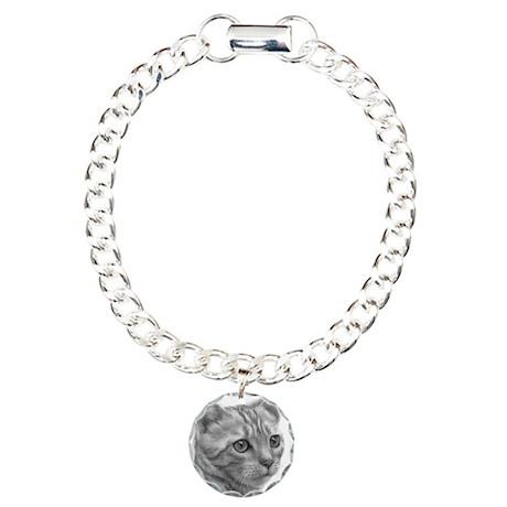 Bengal Cat Charm Bracelet, One Charm
