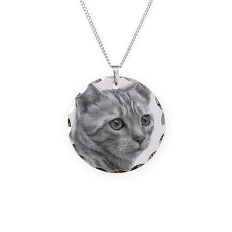 Bengal Cat Necklace Circle Charm