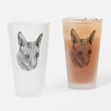 Cornish Rex Cat Drinking Glass