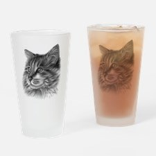 Maine Coon Cat Drinking Glass