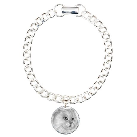 Persian Cat Charm Bracelet, One Charm