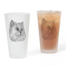 Persian Cat Drinking Glass
