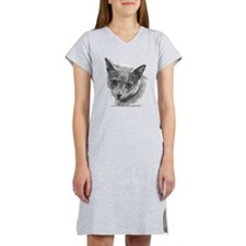 Russian Blue Cat Women's Nightshirt