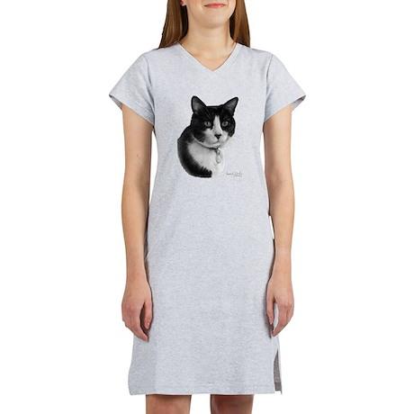 Tuxedo Cat Women's Nightshirt