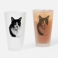 Tuxedo Cat Drinking Glass