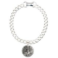 Long-Haired Gray Cat Bracelet