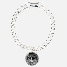 Long-Haired Gray Cat Bracelet