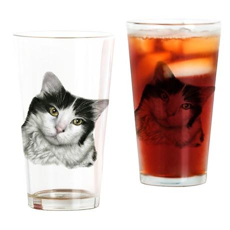 Pierre, Black & White Cat Drinking Glass
