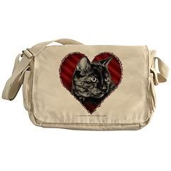 Kitty Heart Messenger Bag