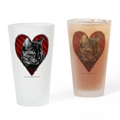 Kitty Heart Drinking Glass