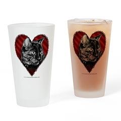 Kitty Heart Drinking Glass