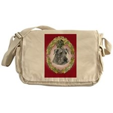 Airedale Terrier Christmas Messenger Bag