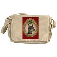 Doberman Pinscher Christmas Messenger Bag