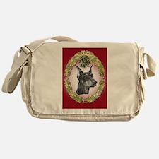 Doberman Pinscher Christmas Messenger Bag