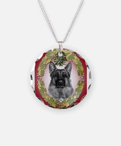 German Shepherd K9 Christmas Necklace