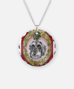 Wire-Haired Dachshund Christm Necklace