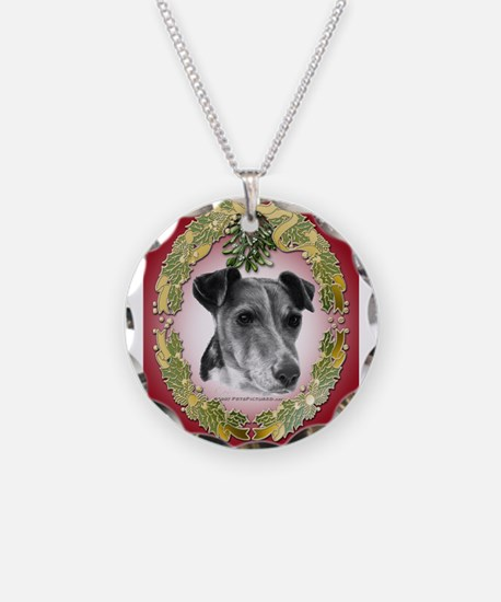 Fox Terrier Christmas Necklace
