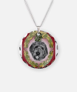 Labradoodle Christmas Necklace