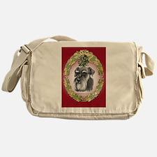 Schnauzer Christmas Messenger Bag