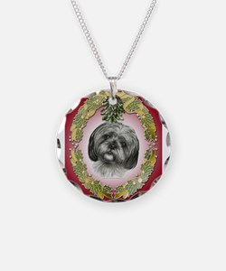 Shih Tzu Christmas Necklace