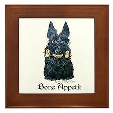 Scottish Bone Appetit Terrier Framed Tile