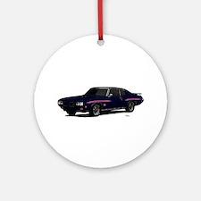 1970 GTO Judge Atoll Blue Ornament (Round)