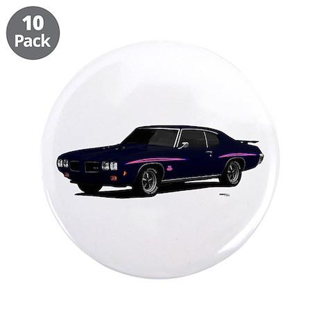 "1970 GTO Judge Atoll Blue 3.5"" Button (10 pack)"