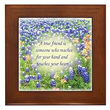 A True Friend Blue Bonnets-Framed Tile