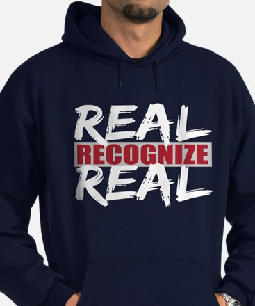 Real Recognize Real Hoodie (dark)