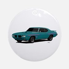 1970 GTO Judge Mint Turquoise Ornament (Round)