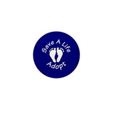 Save A Life - Adopt Mini Button (10 pack)