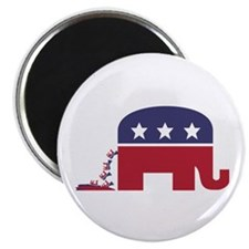 Elephant Pooing Donkey Magnet