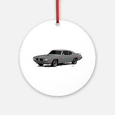1970 GTO Judge Palladium Silver Ornament (Round)