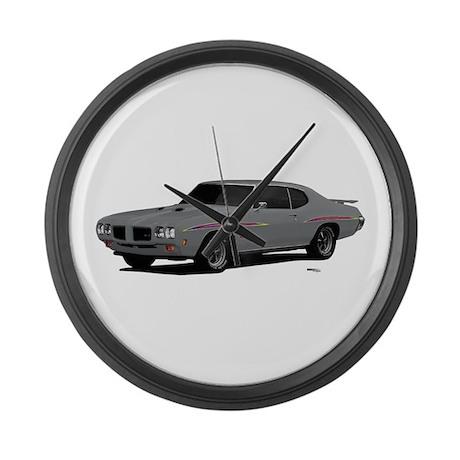 1970 GTO Judge Palladium Silver Large Wall Clock