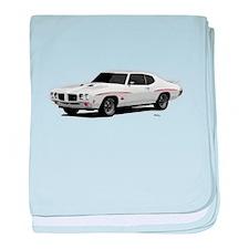 1970 GTO Judge Polar White baby blanket