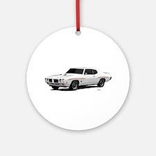1970 GTO Judge Polar White Ornament (Round)