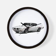 1970 GTO Judge Polar White Wall Clock