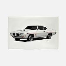 1970 GTO Judge Polar White Rectangle Magnet