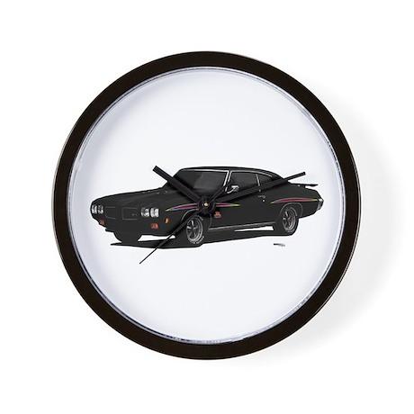 1970 GTO Judge Starlight Black Wall Clock