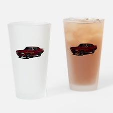 1970 GTO Judge Burgundy Drinking Glass