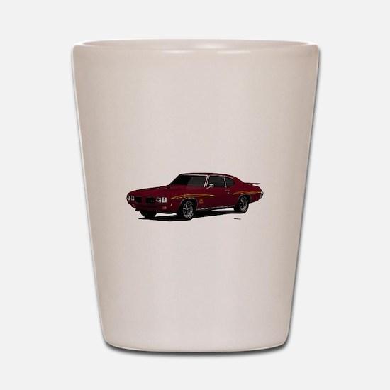 1970 GTO Judge Burgundy Shot Glass