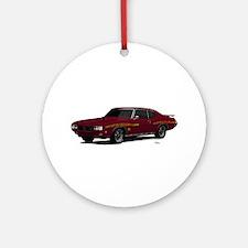 1970 GTO Judge Burgundy Ornament (Round)